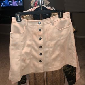 Suede Mini Skirt (light pink)